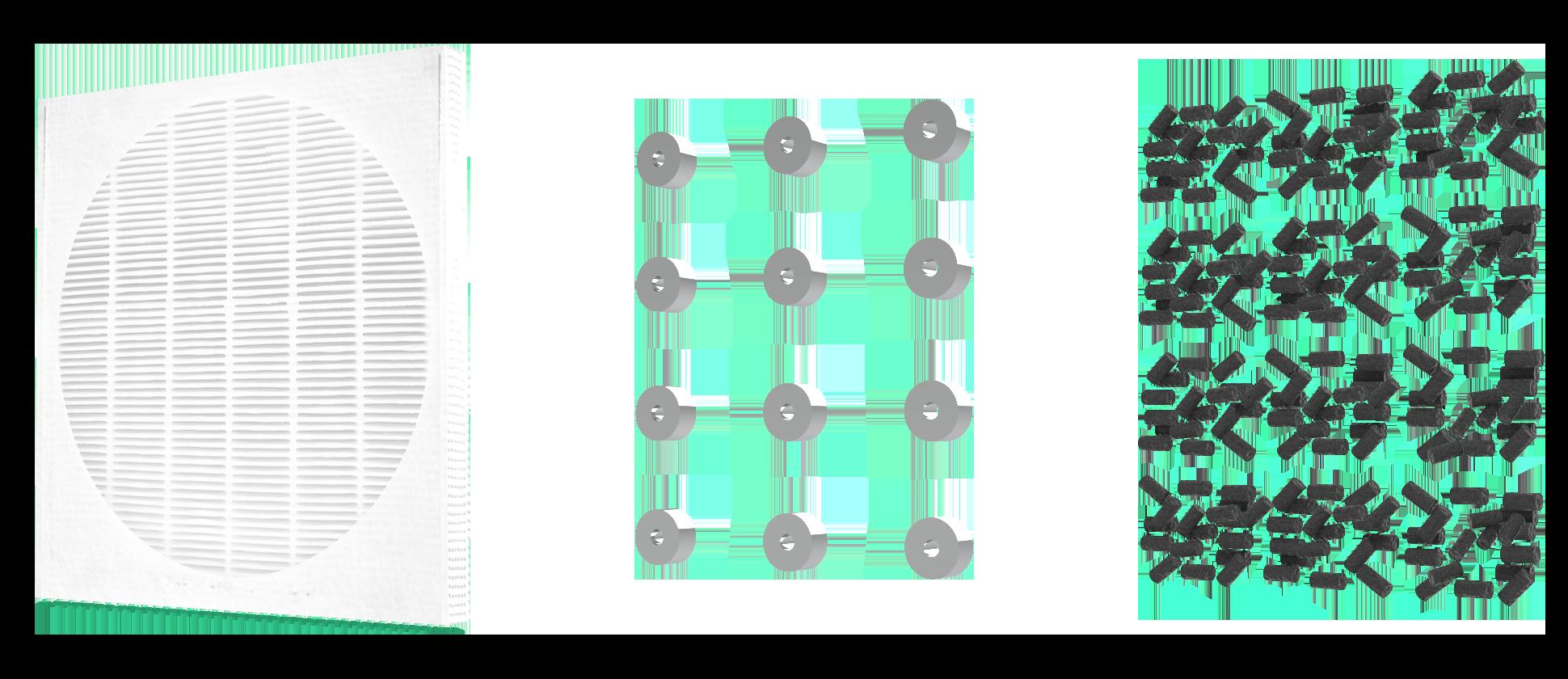 filtro brevettato a tre strati