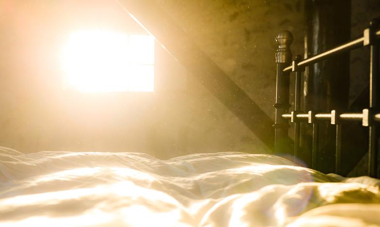 Polvere e particelle inquinanti in camera da letto